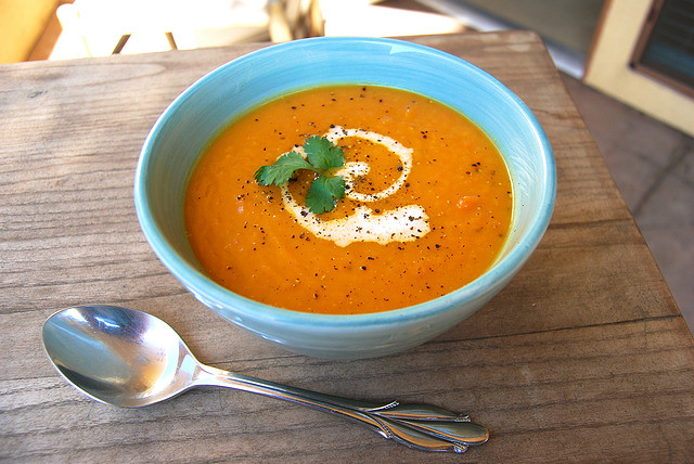 Warming Carrot Soup #soup #carrot #vegetarian