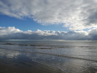 Big Sky and Cloud Scapes over Camber Sands