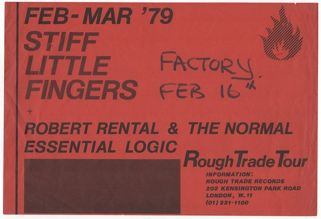 Stiff Little Fingers, Robert Rental, The Normal at the Factory, Manchester , England, 1979