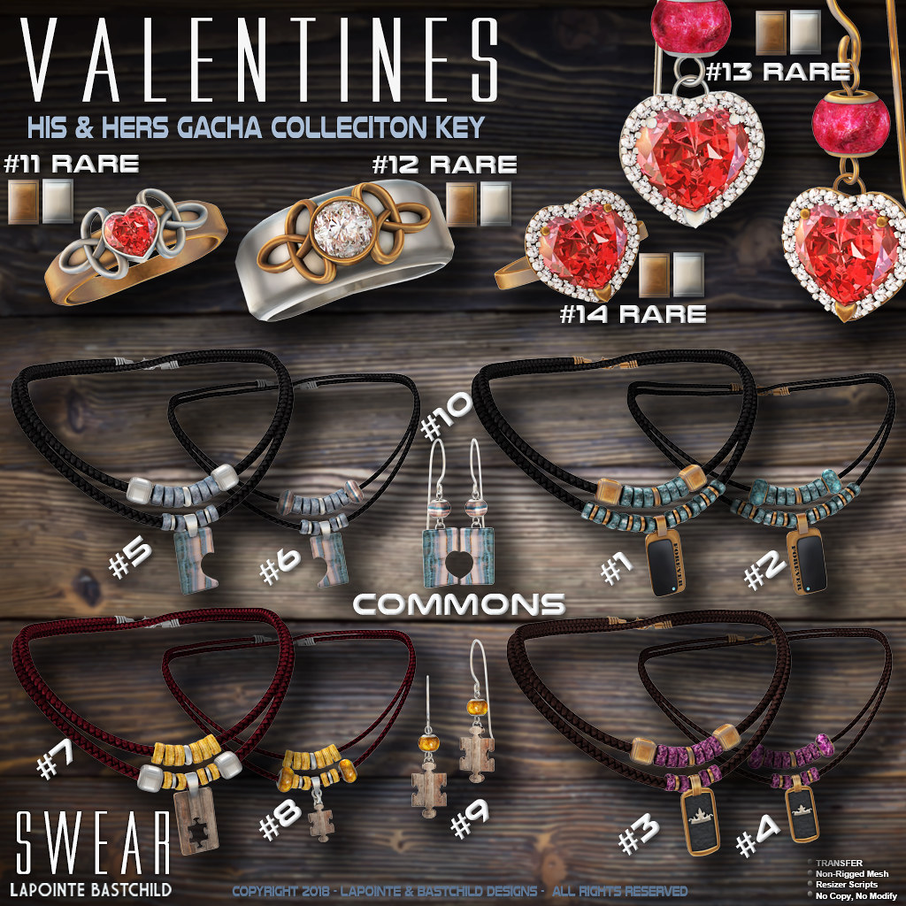 L&B Valentine His & Hers Jewelry Collection – Gacha Key
