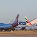 22390 G-VROY Virgin 747-400 and general view egcc man manchester uk