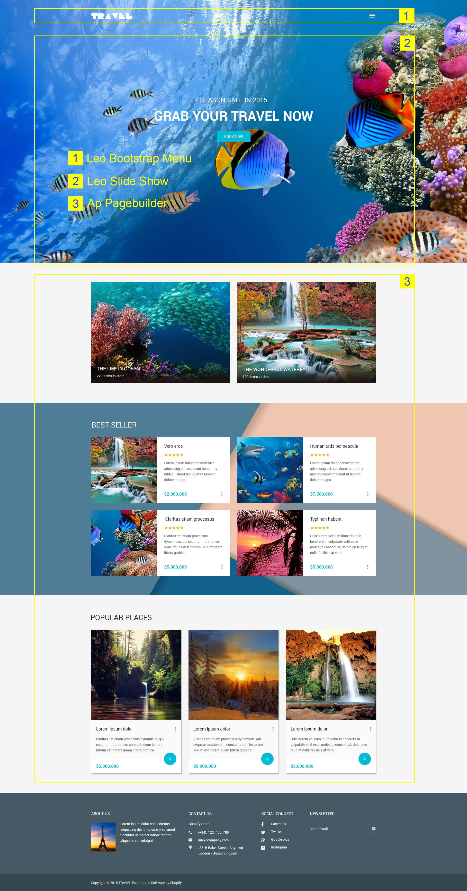 leo travel prestashop theme