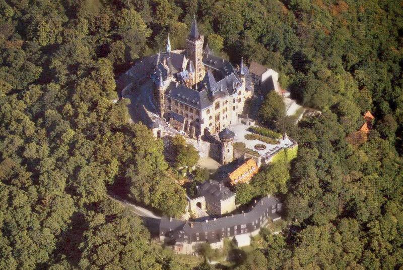 Wernigerode Castle aerial view. Credit Deutsche Fotothek
