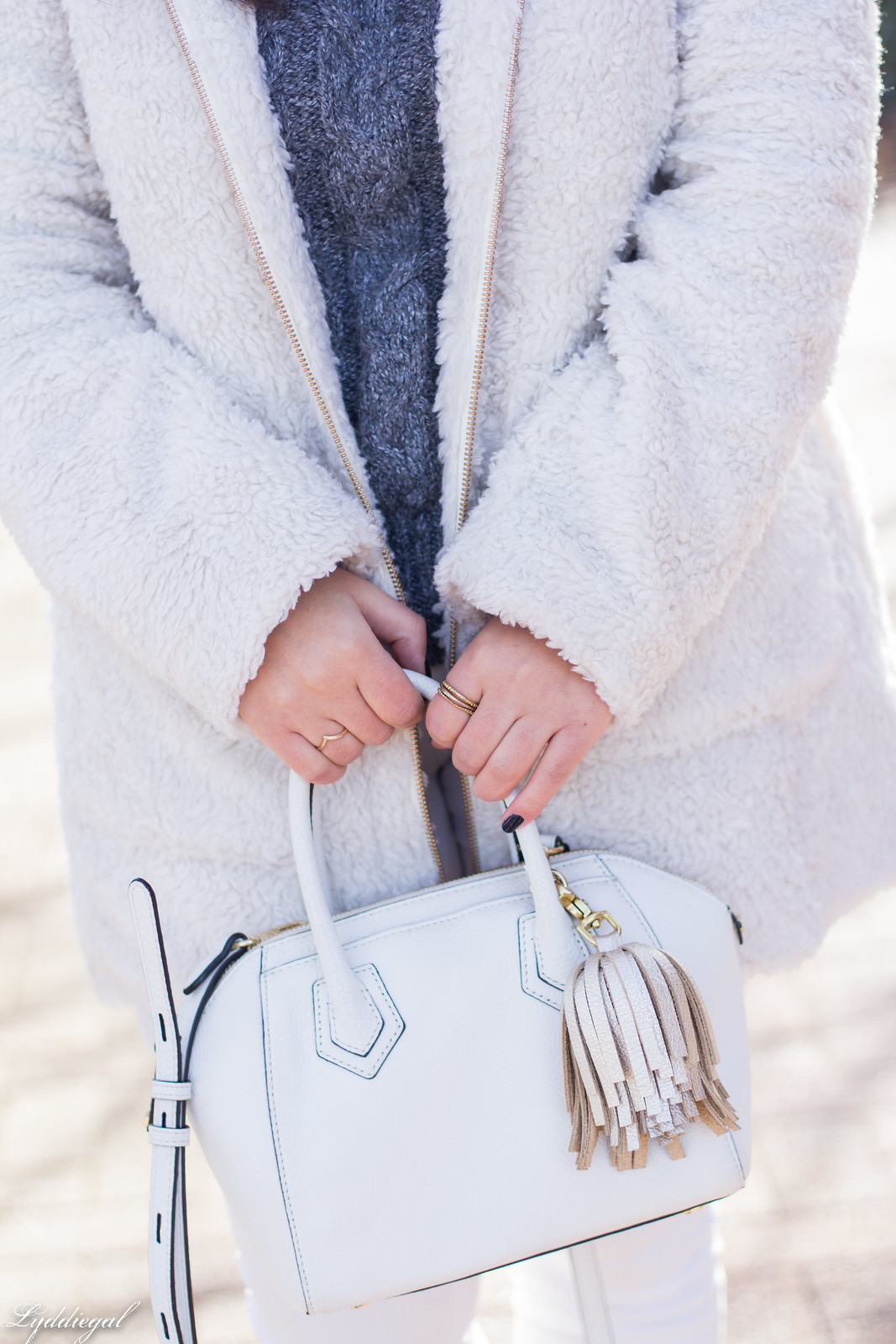 cream teddy coat, silver loafer mules, white denim, grey sweater-22.jpg