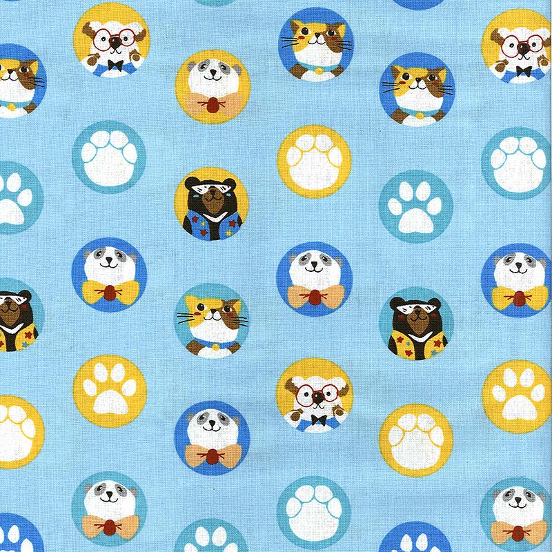 猜猜脚印 (大特价) 可爱动物 zoo 熊 猫咪 无尾熊 手工艺diy拼布布料
