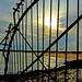 sun and railing