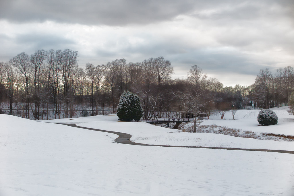 Winter comes to the golf course