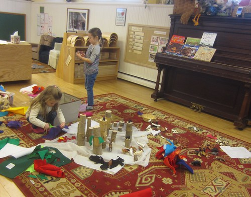 creating a winter animal habitat