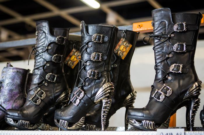 moottoripyörämessut 2018 helsinki mp-messut new rock kengät korkkarit korkosaappaat leather heaven