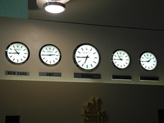 The time around the world