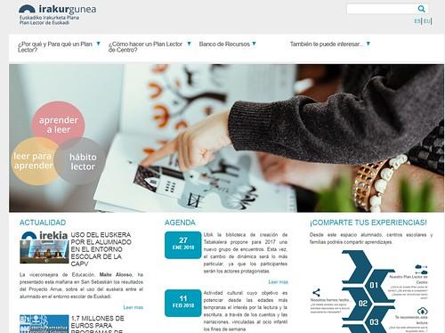 Irakurgunea, web del Plan Lector de Euskadi