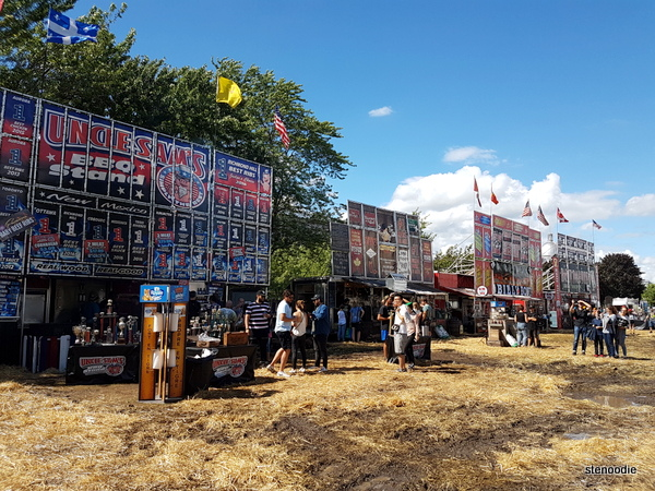 Muddy grounds at the Ribs Fest and PoutineFest