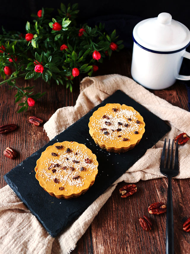迷你椰香南瓜派 (全素,無麵粉,無堅果) mini-coconut-pumpkin-pie (1)