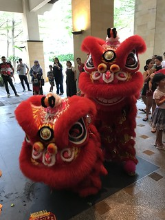 CNY lunch & Lion Dance