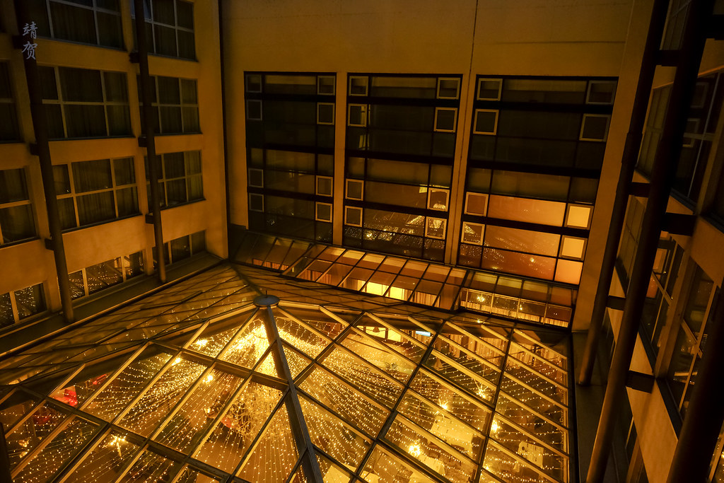 Interior atrium view from the suite