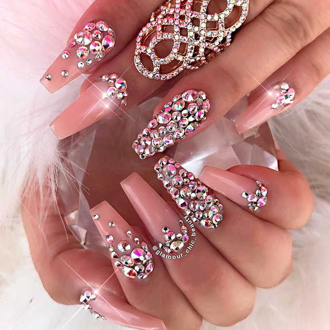 Lovely Nail Designs with Light Pink Polish - Fashion 2D