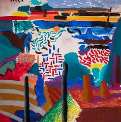 David Hockney, Canyon Painting, 1978 1/16/18 #metmuseum