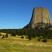 Devils Tower National Monument - Part of the Black Hills - Near Sundance, Wyoming, USA. by Victor Hamberlin