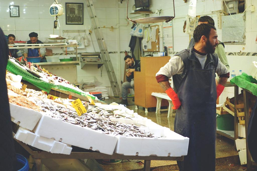 Turk in market