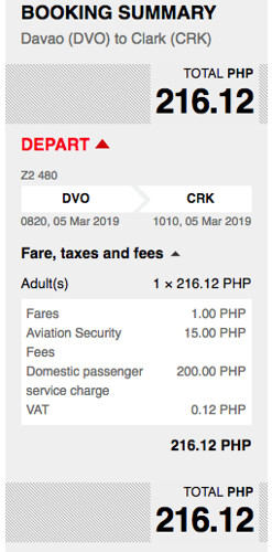 AirAsia Promo Davao to Clark March 5, 2019
