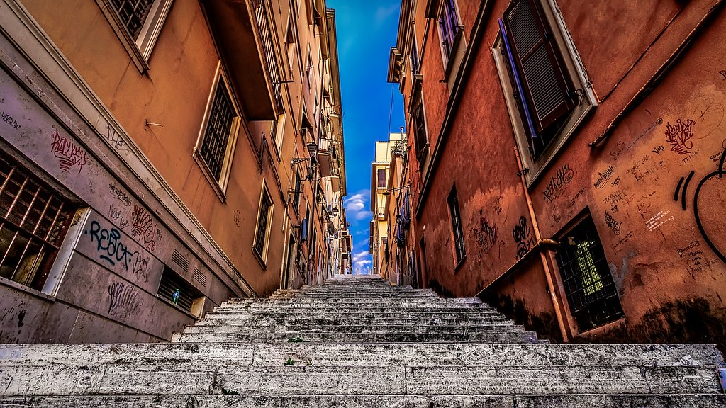 Rue de Frascati près de Rome.