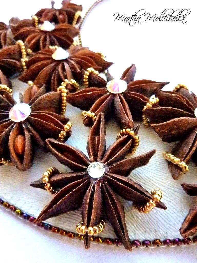 star anise jewes anice stellato gioielli healing spices gioielli spezie martha mollichella handmade jewels