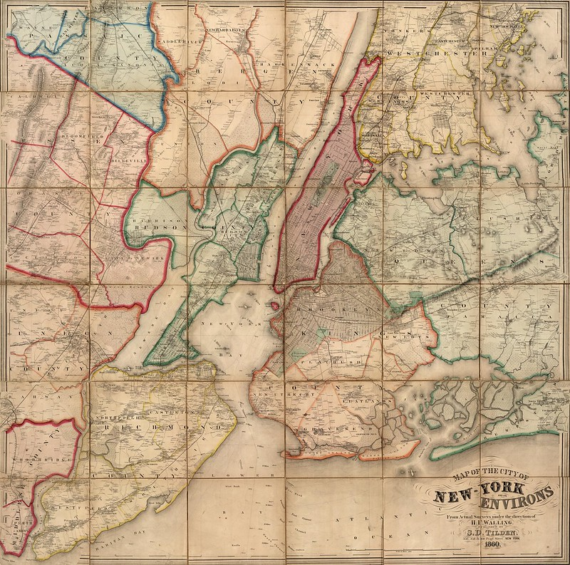 H.F. Walling - New York City and Environs (1860)
