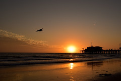 Sunset on Santa Monica Pier