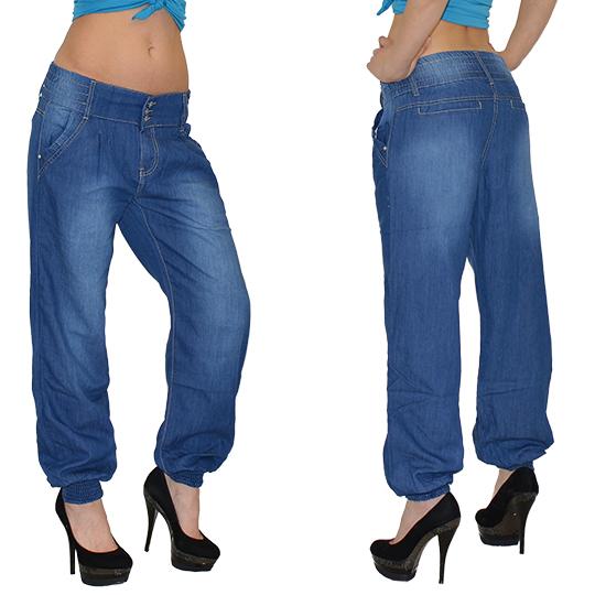 damen jeans pumphose jeanshose aladinhose harem pump hose boyfriend j130 ebay. Black Bedroom Furniture Sets. Home Design Ideas