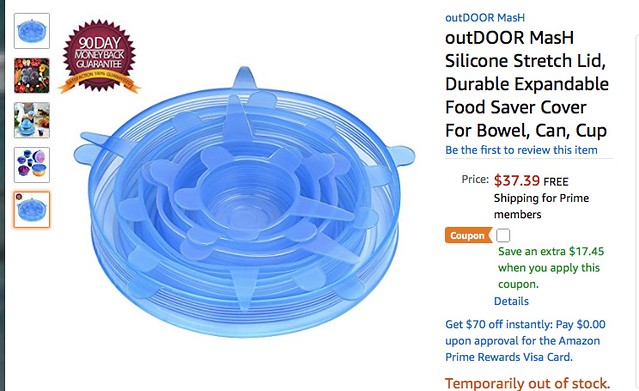 Dang! The bowel cover is out of stock.