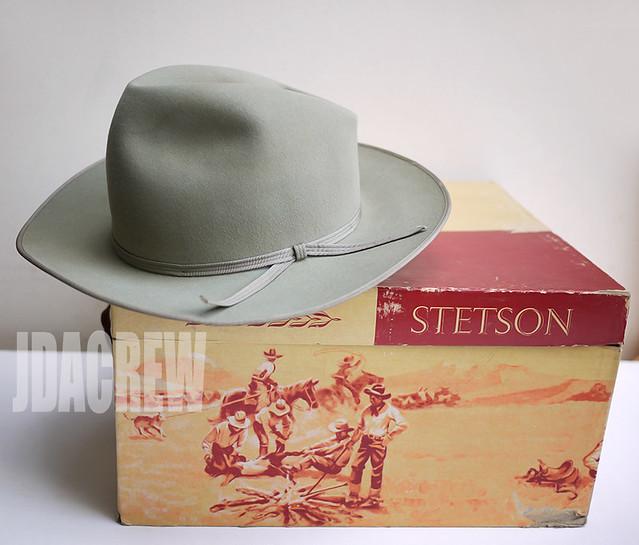 【STETSON】ウェスタン ロイヤル セージ 58.8cmビンテージハット