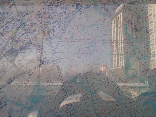 Map of western Toronto #toronto #etobicoke #everywheremaps #maps #dundasstreetwest #islingtoncitycentrewest #reflection #latergram