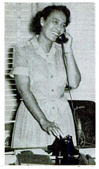 Juanita Terry, first black aide to white representative: 1949