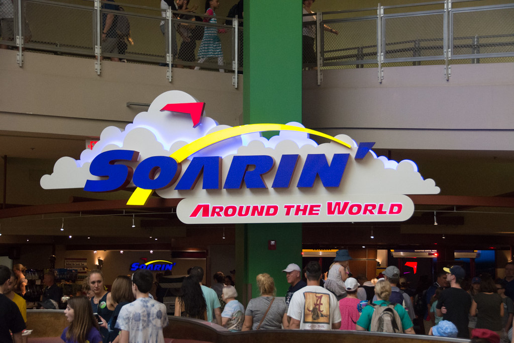 Sign for Soarin at EPCOT