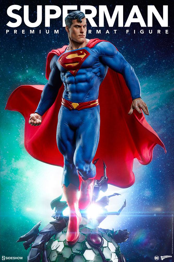 無敵的鋼鐵之軀登場~! Sideshow Collectibles Premium Format Figure 系列 DC Comics【超人】Superman 1/4 比例全身雕像作品