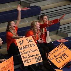 WVB cheering on MVB (Feb 23, 2018 Scott Stewart)