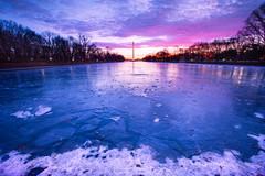 10 degree sunrise over the Washington Monument