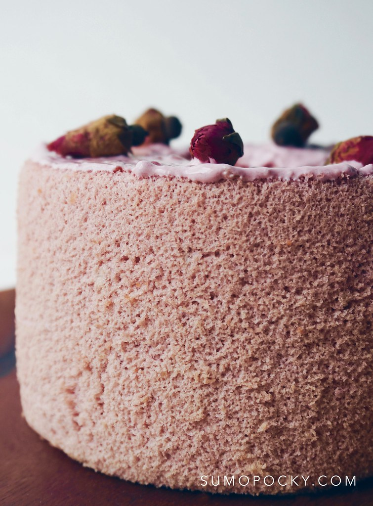 ROSE TEA CHIFFON CAKE RECIPE