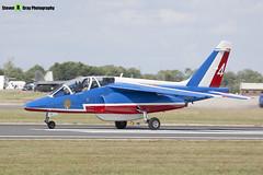 E41 4 F-TERA - E41 - Patrouille de France - French Air Force - Dassault-Dornier Alpha Jet E - RIAT 2010 Fairford - Steven Gray - IMG_9769