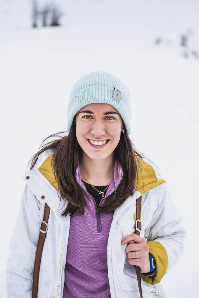Marina en la nieve
