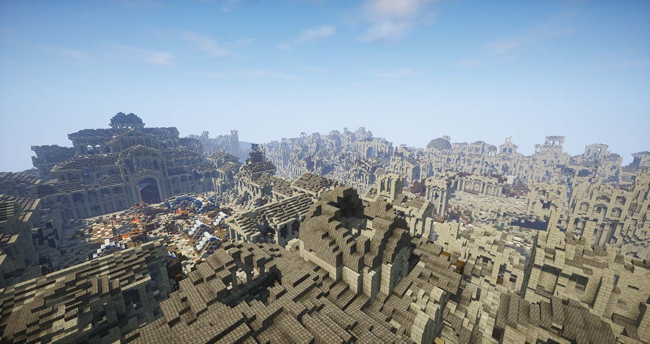 Minecraft Middle Earth By @mcmiddleearth: Osgiliath – The Capital City Of Gondor