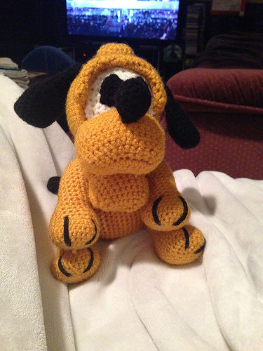 Karen's crocheted Pluto