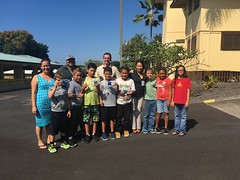 Hawaii Electric Light Hookena School Visit - January 10, 2018: Class group photo with both Jane C. and Darren E.