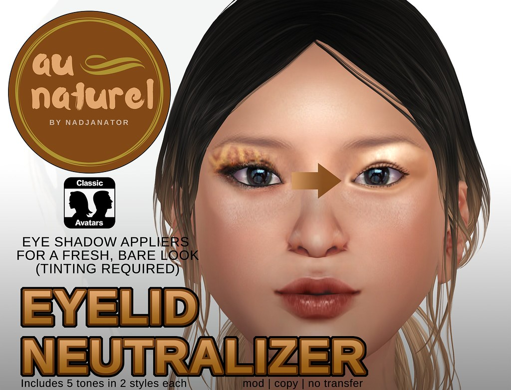 [FREE GIFT!] auNaturel // Eyelid Neutralizer for Classic Avatars - TeleportHub.com Live!