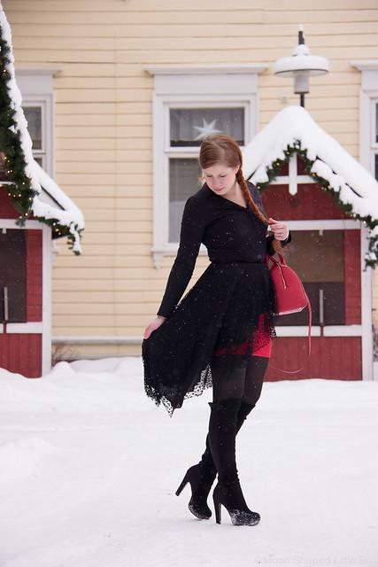 Tyylibloggaaja, päivän asu, peplumhelma asussa, winter fashion, outfit