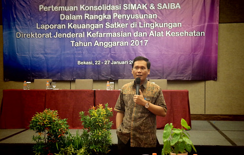 Pertemuan Konsolidasi SIMAK & SAIBA Dalam Rangka Penyusutan Laporan Keuangan Satker Dilingkungan Ditjen Farmalkes