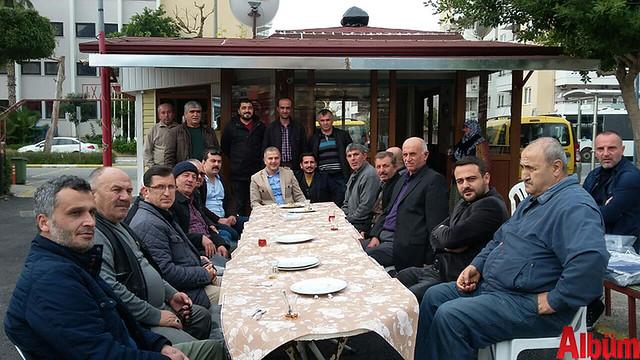 Alanya Şoförler Odası Başkanı Ali Akkaya, Otogar Taksi esnafına veda ziyaretinde bulundu.