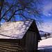 Blue sky shed