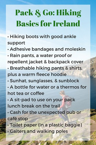 Pack & Go: Hiking Basics for Ireland. From: Hit the Trails in Northern Ireland and Donegal