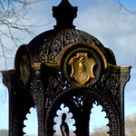 Victorian fountain at Haslam Park, Preston